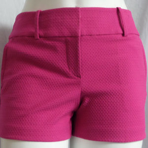FUCHSIA TEXTURED FABRIC CASUAL CITY MODERN SHORTS